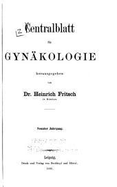 Zentralblatt für Gynäkologie: Band 9