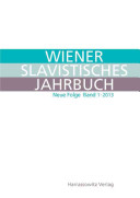 Wiener Slavistisches Jahrbuch  Neue Folge 1  2013  PDF