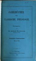 Jahrb  cher f  r classische Philologie PDF