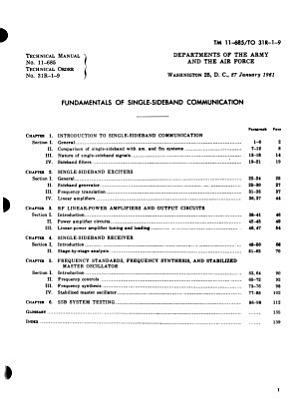 Fundamentals of Single sideband Communication PDF