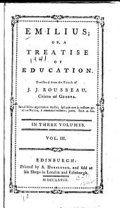 Emilius; or, A treatise of education: Volume 3