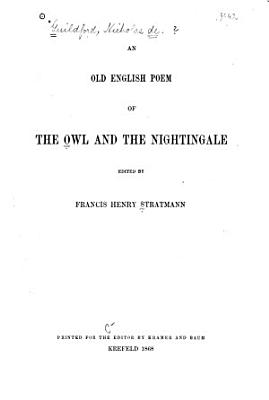 An Old English Poem of The Owl and the Nightingale PDF