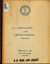 Report of the Railroad Commission to the Governor PDF