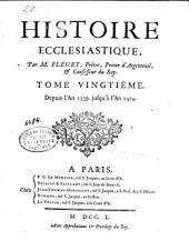Histoire ecclésiastique: Depuis l'an 1339, jusqu'à l'an 1414. T. 20