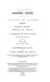Annala Uladh: 1379-1541 [i.e. 1588], ed. by B. MacCarthy