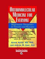 Orthomolecular Medicine for Everyone PDF