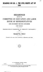 Hearings on H R  1  the Civil Rights Act of 1991 PDF