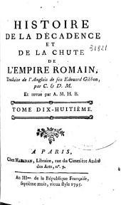 Histoire de la décadence et de la chute de l'Empire romain: Volume11
