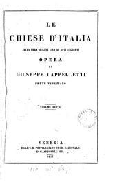 Le chiese d'Italia della loro origine sino ai nostri giorni: Volume 6