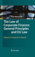 The Law of Corporate Finance  General Principles and EU Law PDF