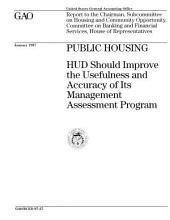 Public Housing: Hud Should Improve the Usefulness and Accuracy of Its Management Assessment Program