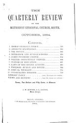 The Quarterly Review of the Methodist Episcopal Church  South PDF