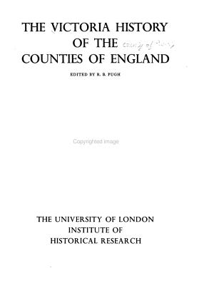 The Victoria History of the County of Essex