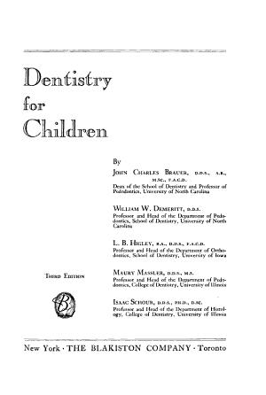 Dentistry for Children PDF