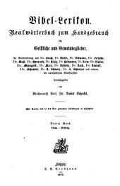 Bibel-Lexikon: Realwörterbuch zum Handgebrauch für Geistliche und Gemeindeglieder. Laban - Prüfung, Band 4