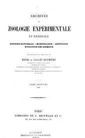 Archives de zoologie expérimentale et générale: Volume7