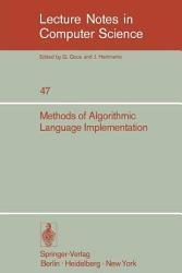Methods Of Algorithmic Language Implementation Book PDF