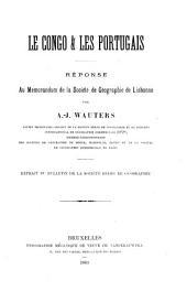 Le Congo et les portugais: réponse au memorandum de la Société de géographie de Lisbonne