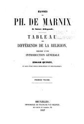 Oeuvres: Tableau des diférends de la religion, précédé d'une introduction générale par Edgar Quinet