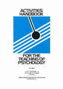 Activities Handbook for the Teaching of Psychology PDF