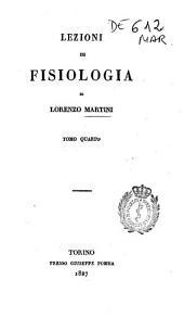 Lezioni di fisiologia: Volume 4