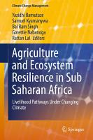 Agriculture and Ecosystem Resilience in Sub Saharan Africa PDF