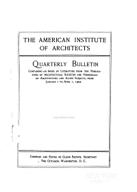 Bulletin of the American Institute of Architects PDF