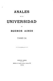 Anales de la Universidad de Buenos Aires: Volúmenes 11-14
