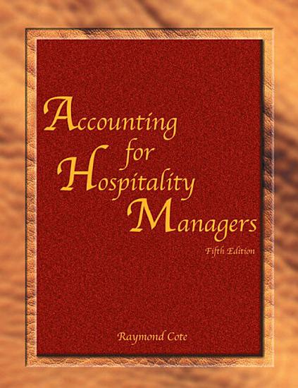 Accounting for Hospitality Managers  AHLEI  PDF