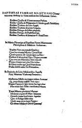 Baptistae Fiaerae Mantuani Commentaria noue doctrine in artem medicinalem diffinitiuam Galeni