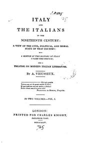 Italy and the Italians in the nineteenth century