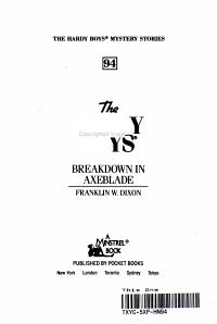 Breakdown in Axeblade