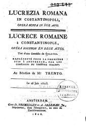 Lucrezia Romana in Constantinopoli ...