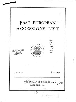 East European Accessions List