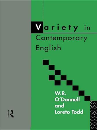 Variety in Contemporary English PDF