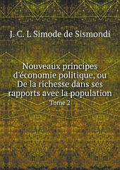 Nouveaux principes d'?conomie politique, ou De la richesse dans ses rapports avec la population