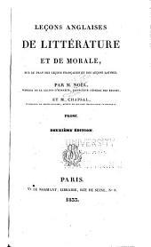 Leçons anglaises de littérature et de morale ...