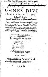 In omnes divi Pauli apostoli epistolas collatio