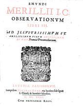 Observationum libri tres