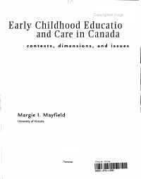 Early Childhood Education and Care in Canada