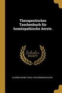 Therapeutisches Taschenbuch F  r Hom  opathische Aerzte  PDF