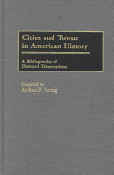 Cities and Towns in American History PDF