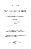 A Series of First Lessons in Greek PDF