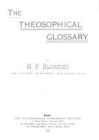 The Theosophical Glossary PDF