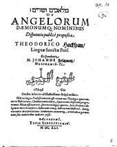 De angelorum daemonumque nominibus