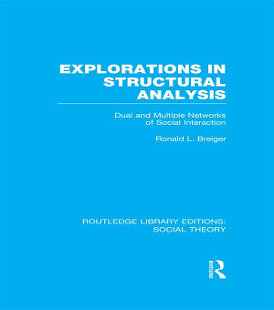 Explorations in Structural Analysis  RLE Social Theory  PDF