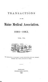Transactions of the Maine Medical Association: Volume 7