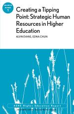 Creating a Tipping Point  Strategic Human Resources in Higher Education PDF