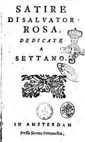 Satire di Salvator Rosa, dedicate a Settano