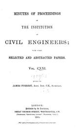 Minutes of Proceedings of the Institution of Civil Engineers: Volume 121